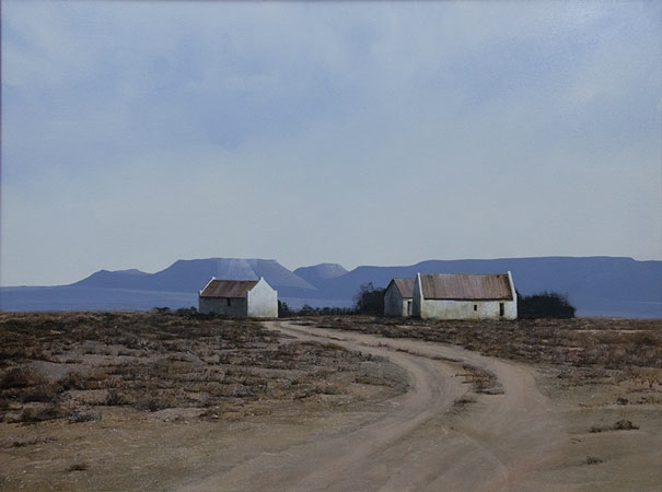Karoo painting Image entitled 'Shearing Sheds'