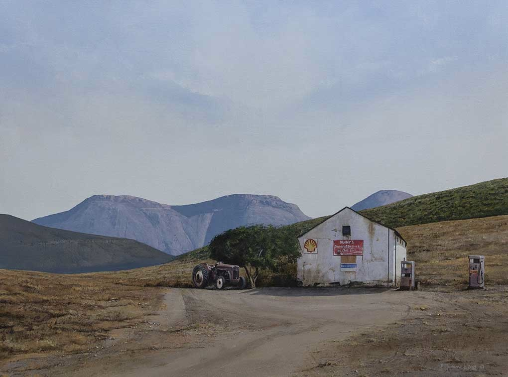 "South African Artists Karroo LandscapesImage entitled ""Mullers General Dealer"""