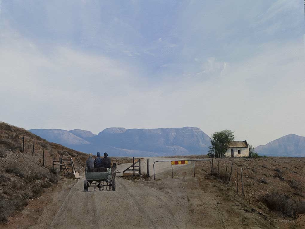Karoo Landscape Painting Image entitled 'After The Shop'