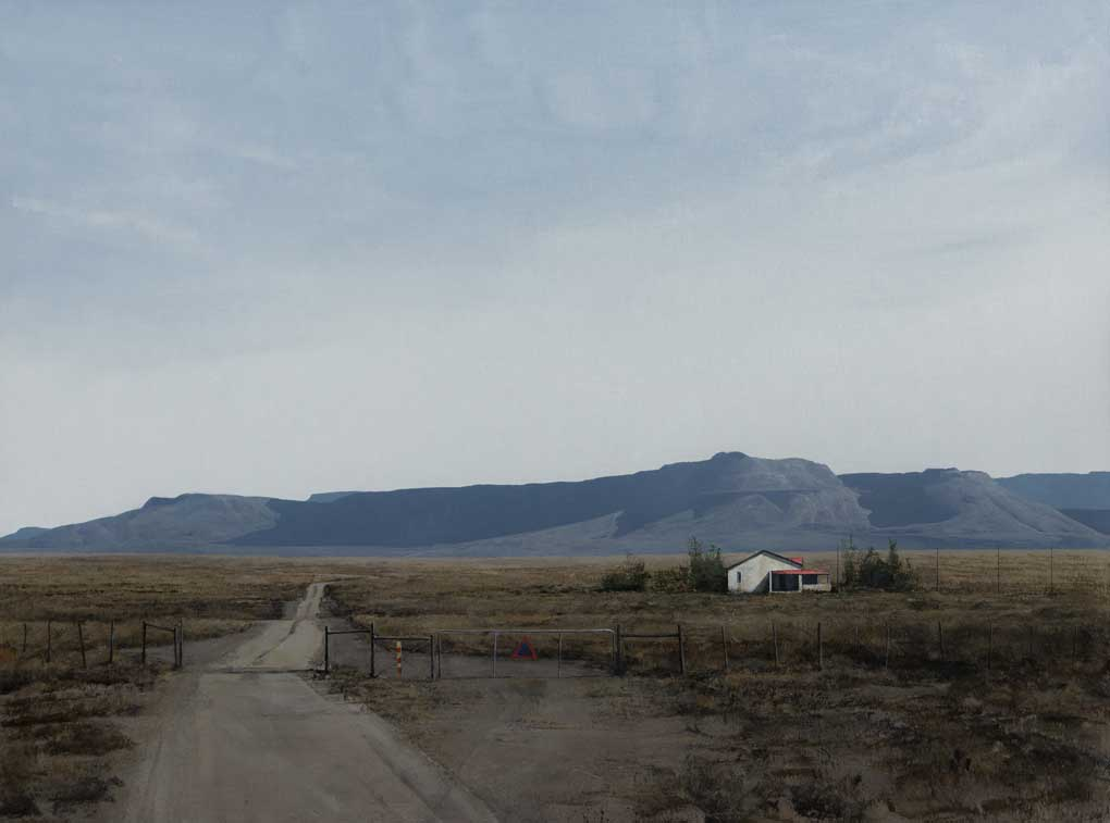 South African Artists Karoo landscape entitled 'A Remote Place""
