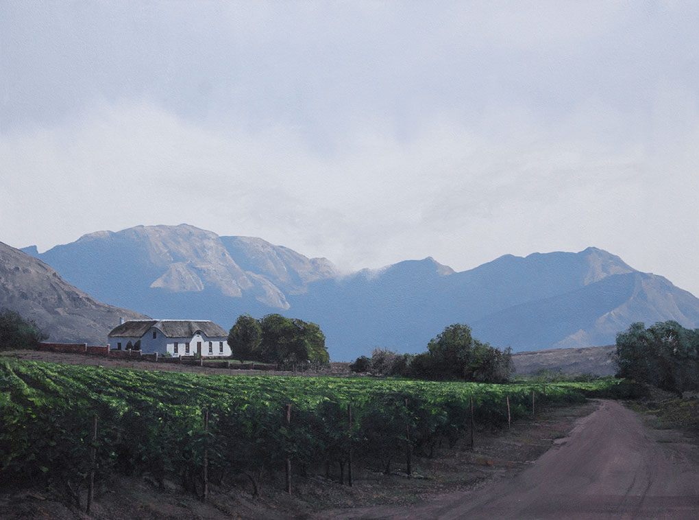 Peter Bonney South African Artist - hyper realist landscapes image Western Cape winelands