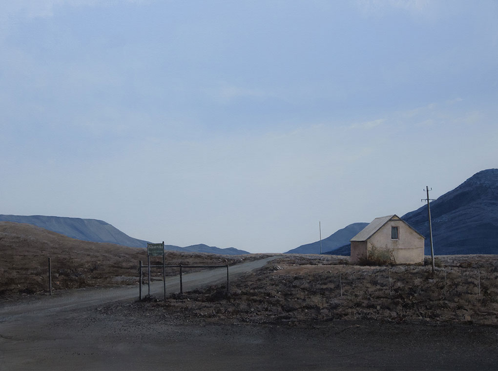 South African artist |Peter Bonney |Karoo Landscapes painting title Klawervlei