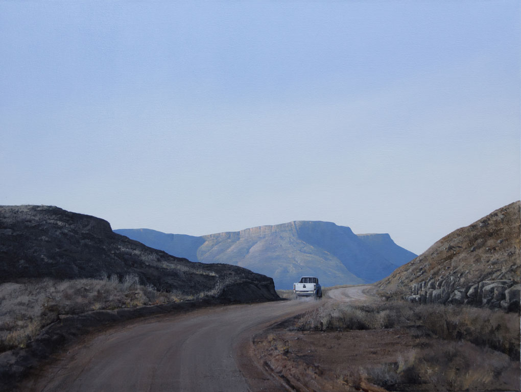 South African artists Peter Bonney Paintings title Molteno Pass)