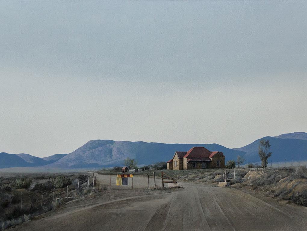 South African Artists Karoo Landscape painting image title Stormberg Sandstone