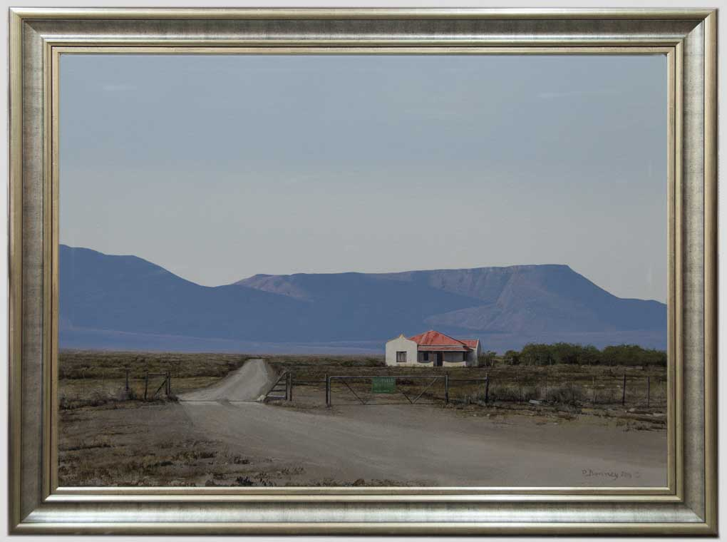 Peter Bonney|Realist Painting\Title Nuweveld Boerdery