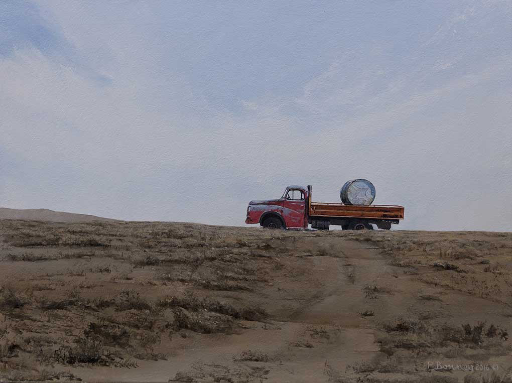 "South African Art|Peter Bonney painting title ""After The Drought"""
