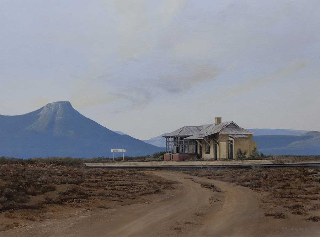 "South African art|Peter Bonney painting title ""Vondelin Revisit"""