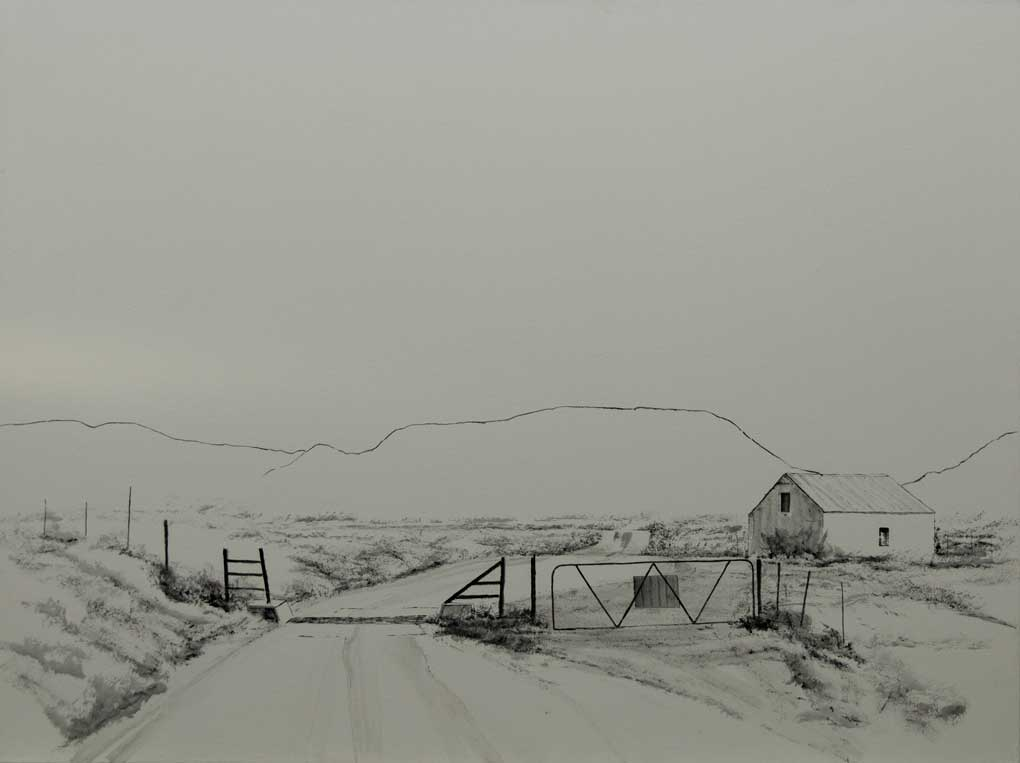 south african artist peter bonney realist art title Sneeuberg Range